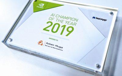 Azken Muga recibe la condecoración AI CHAMPION 2019